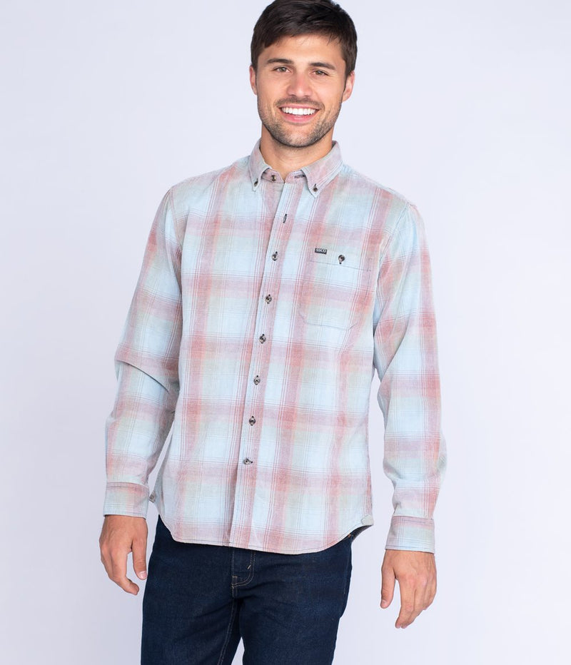 Men's Southern Shirt Company Braxton Lightweight Cord Flannel- Montana Sky