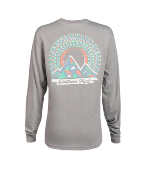 Southern Shirt Company Long Sleeve Mosaic Mountains- Griffin