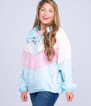 Southern Shirt Company Kelly Colorblock Windbreaker- Double Bubble