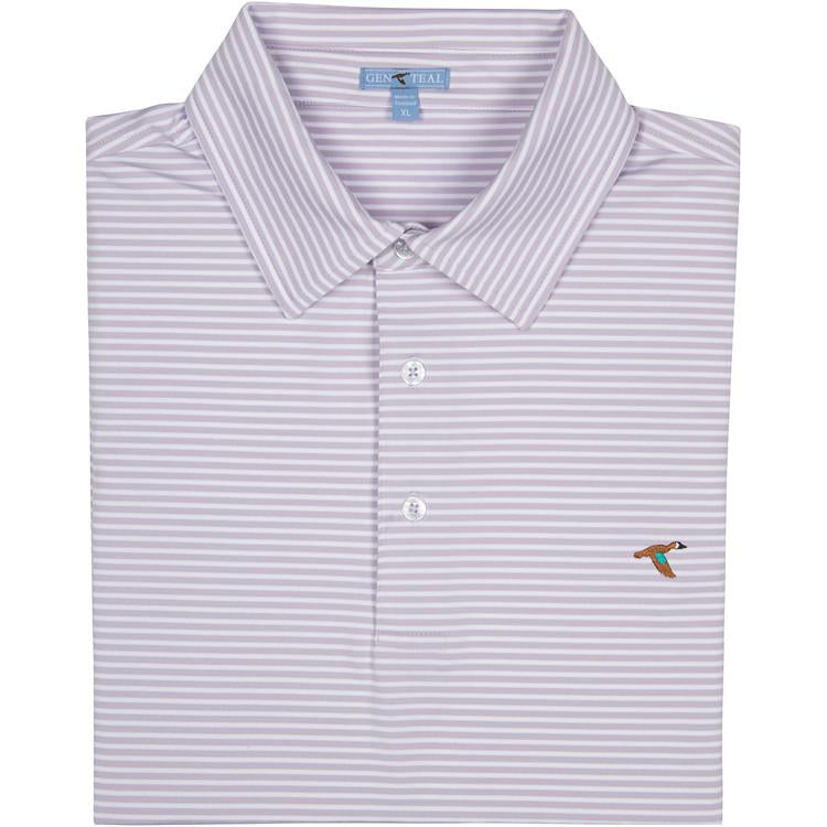 Men's GenTeal Apparel Clubhouse Performance Polo- Orchid Petal