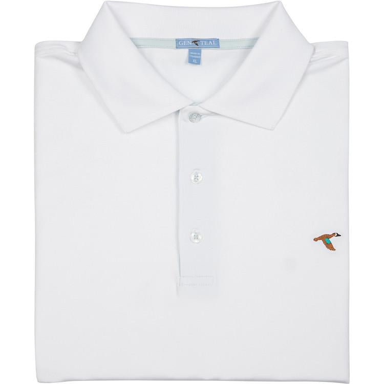 Men's GenTeal Apparel Solid Performance Polo- White
