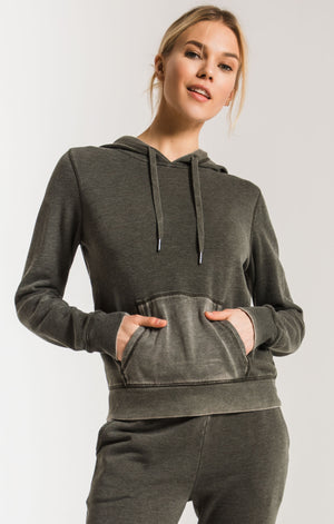 Women's Faded Wash Hoodie- Rosin