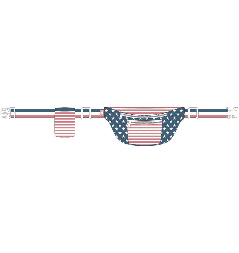 Southern Shirt Front Row Fanny Pack- Team America