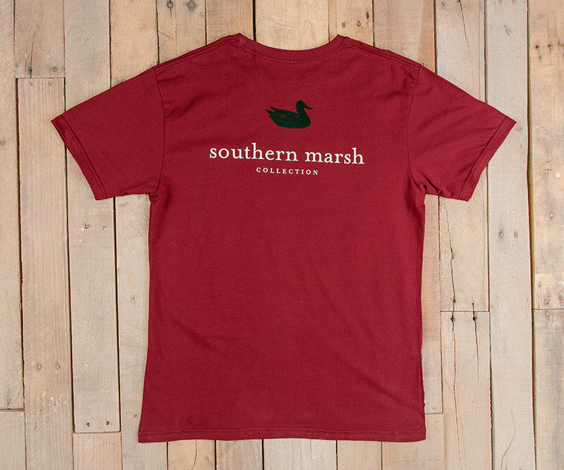 Southern Marsh Authentic Short Sleeve Tee- Maroon