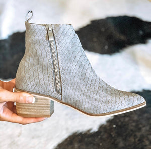 Women's Nexus Booties- Grey Snake