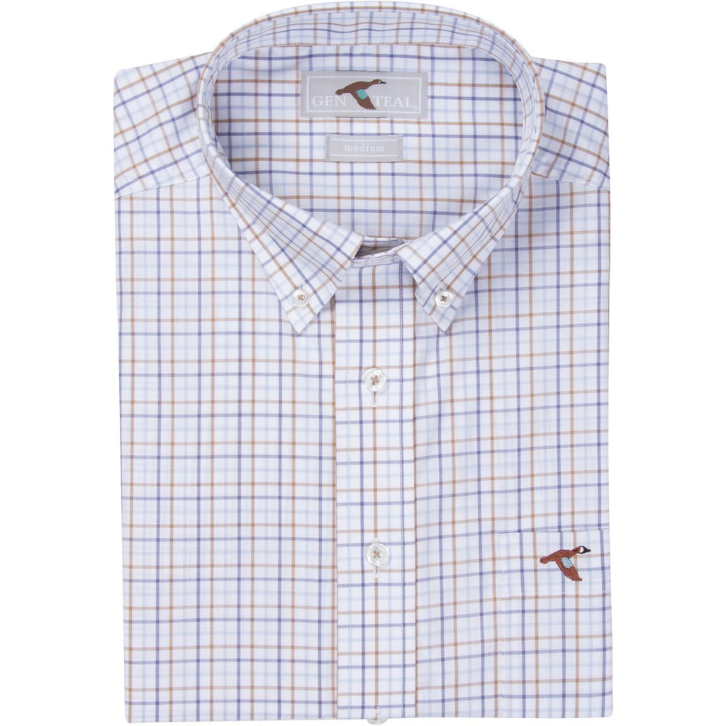 Men's GenTeal Apparel Caribou Tattersall Sport Shirt