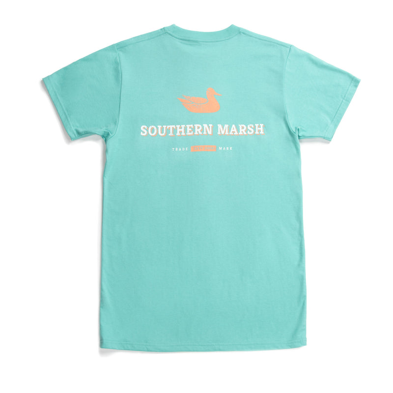 Southern Marsh Short Sleeve Trademark Duck Tee- Mint