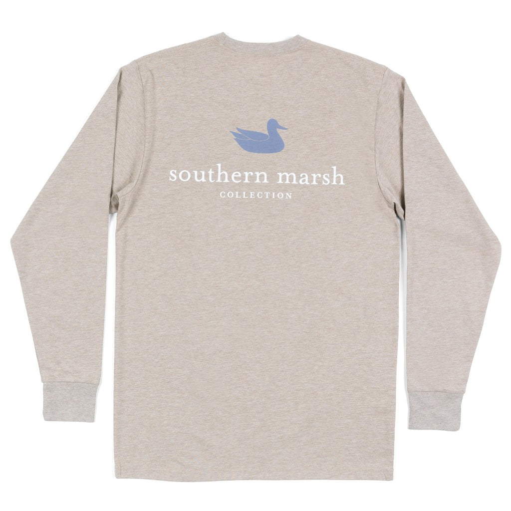Southern Marsh Long Sleeve Authentic Tee- Washed Burnt Taupe