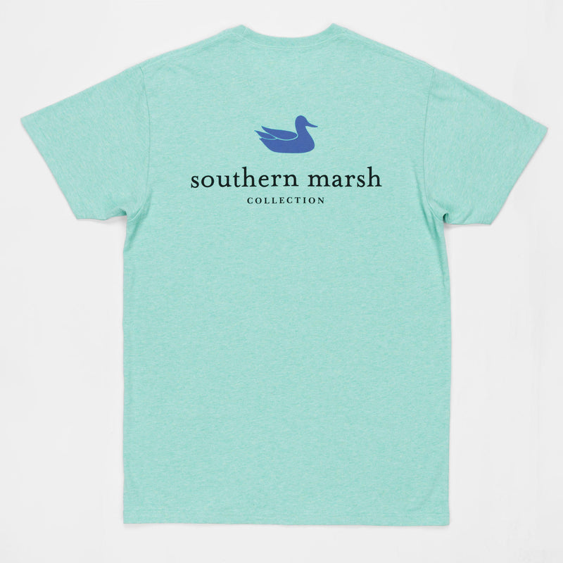 Southern Marsh Authentic Short Sleeve Tee- Washed Bimini Green