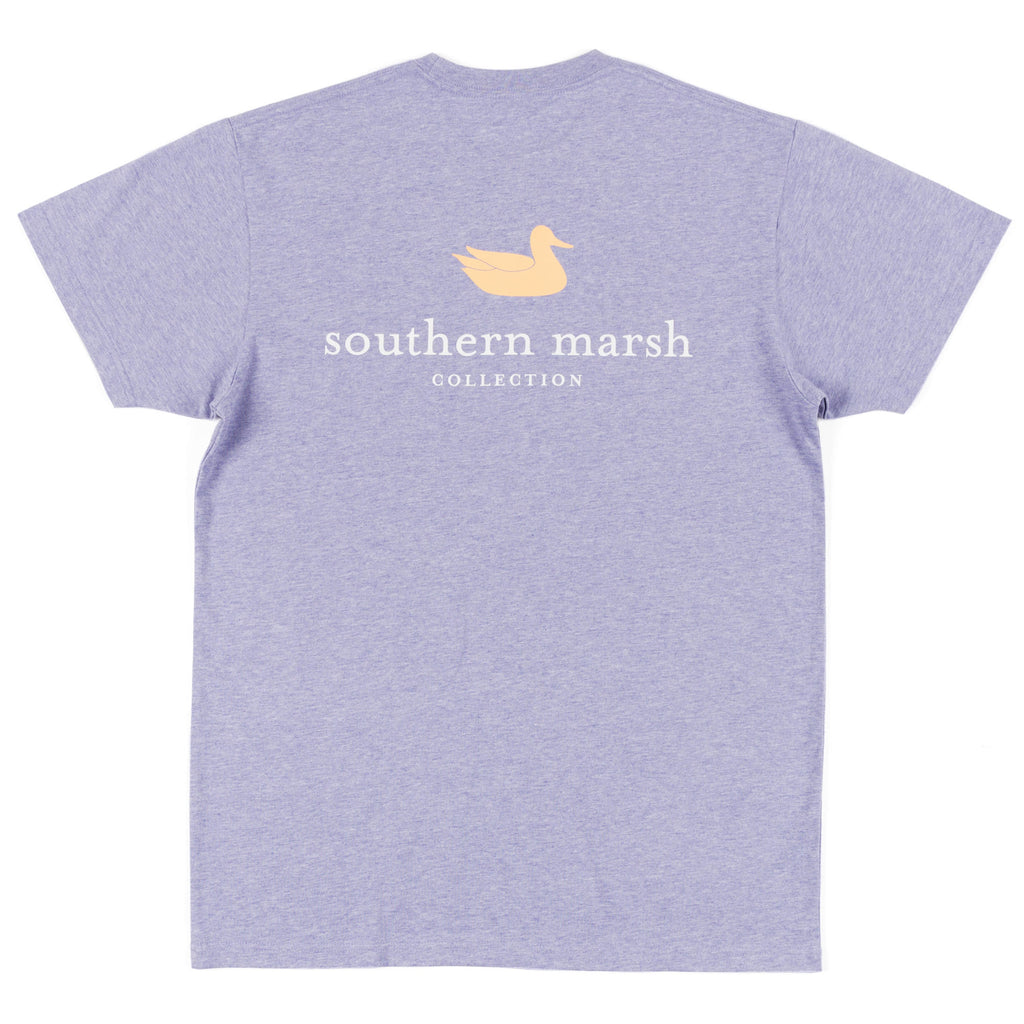 Southern Marsh Short Sleeve Authentic Tee- Washed Berry