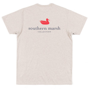Southern Marsh Short Sleeve Authentic Tee- Washed Oatmeal