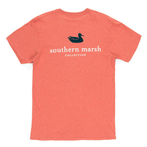 Southern Marsh Authentic Short Sleeve Tee- Washed Red