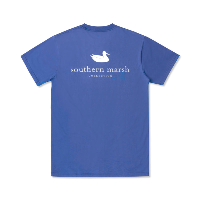 Southern Marsh Short Sleeve Authentic Rewind Tee- Royal Blue