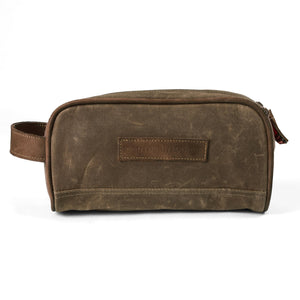 Southern Marsh Dewberry Waxed Travel Kit- Dark Brown