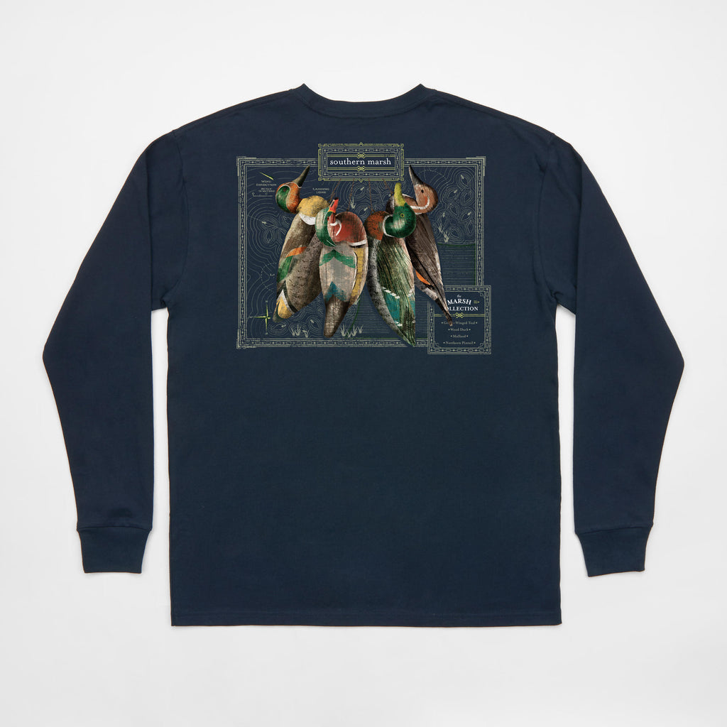 Southern Marsh Long Sleeve Vintage Decoy Collection- Navy