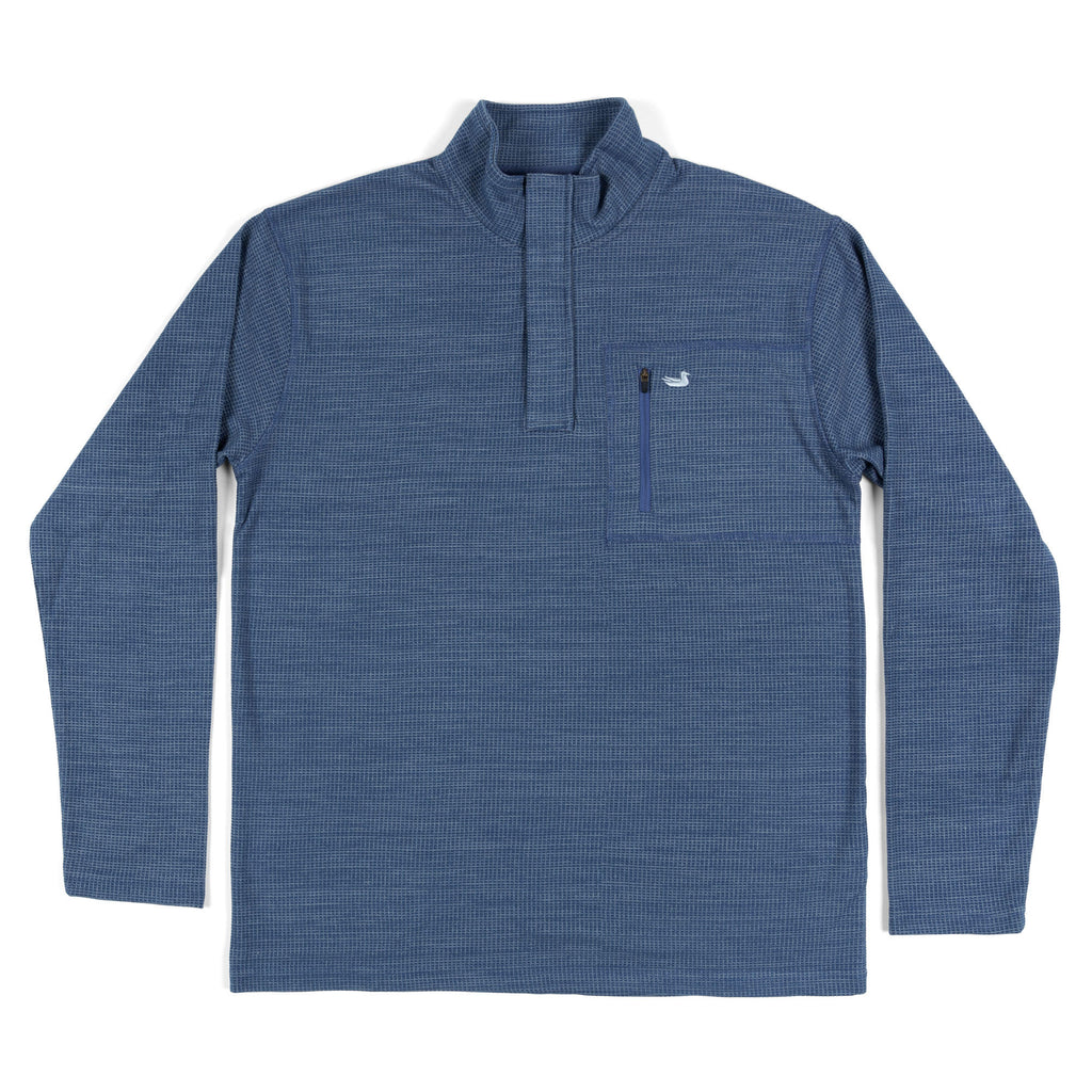 Southern Marsh FieldTec Contour Pullover- Washed Navy