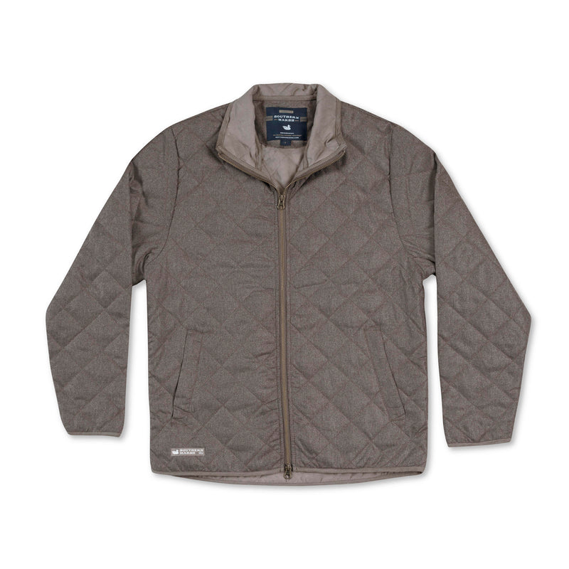 Men's Southern Marsh Newton Quilted Jacket- Burnt Taupe
