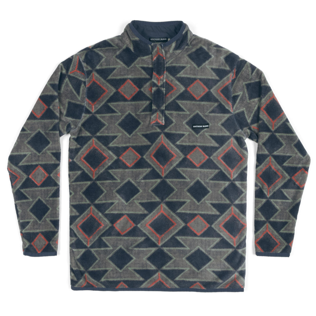 Southern Marsh Pueblo Aztec Pullover- Navy/Burnt Taupe