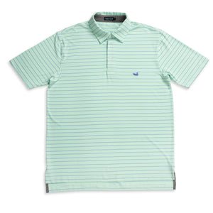 Men's Southern Marsh Oakwood Performance Polo- Bimini Green/Lilac
