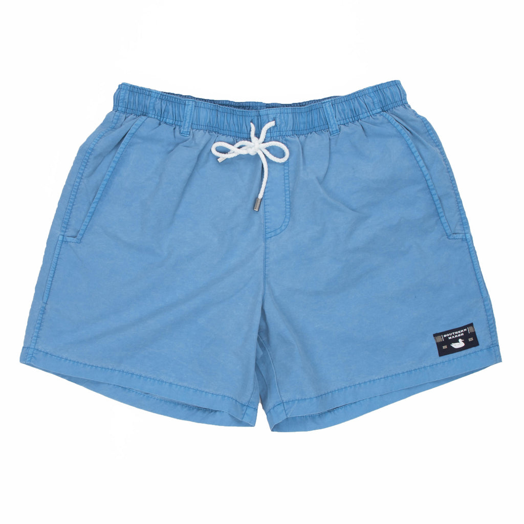 Men's Southern Marsh Shoals Seawash Swim Trunks- Breaker Blue