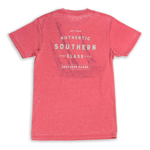 Southern Marsh Short Sleeve Seawash Tee- Sailboat