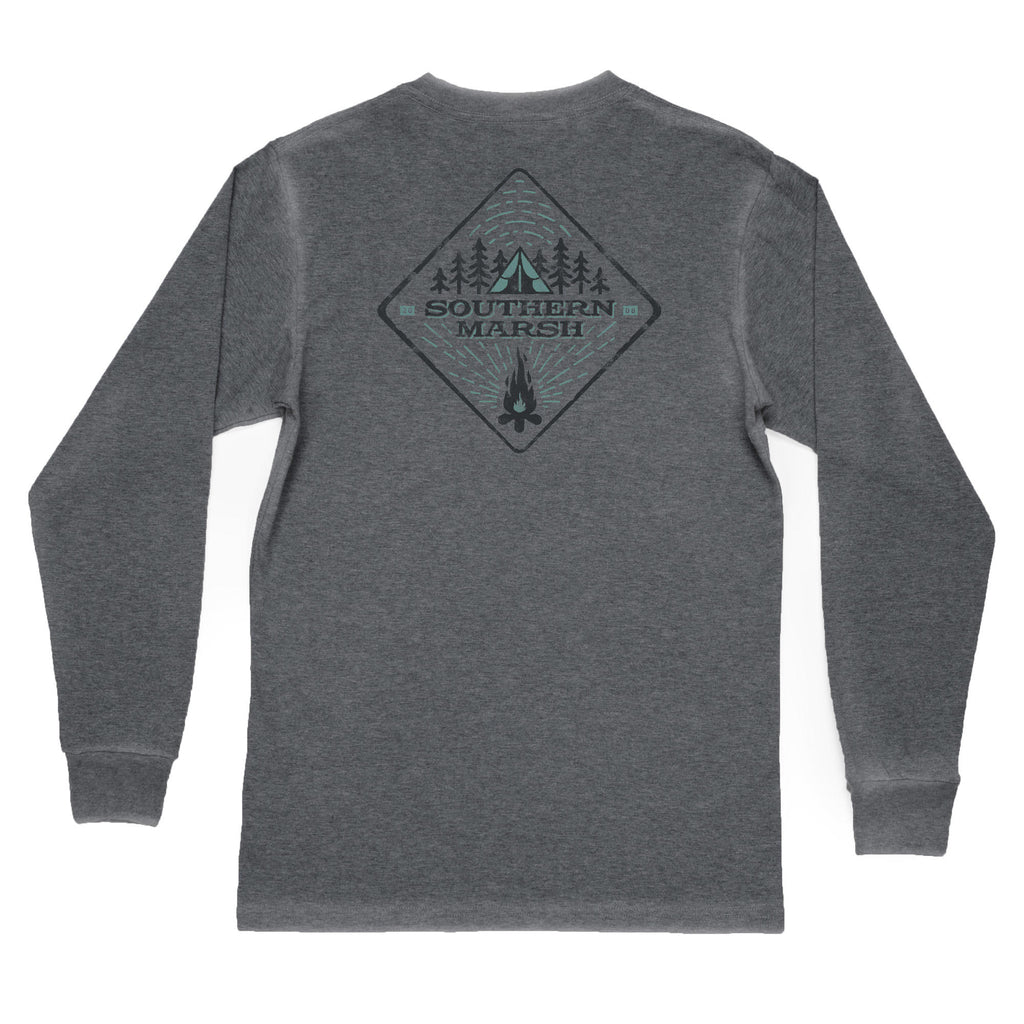 Southern Marsh Long Sleeve Tent Tee- Midnight Grey