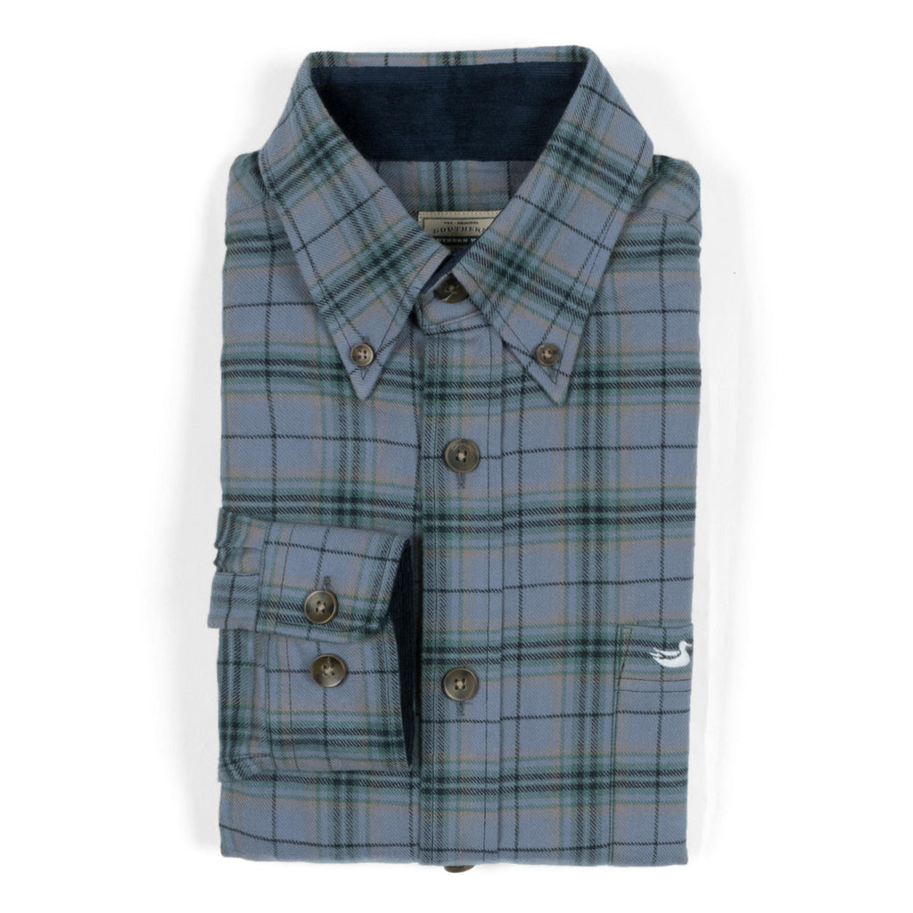 Men's Southern Marsh Hindman Flannel- Slate/Tan