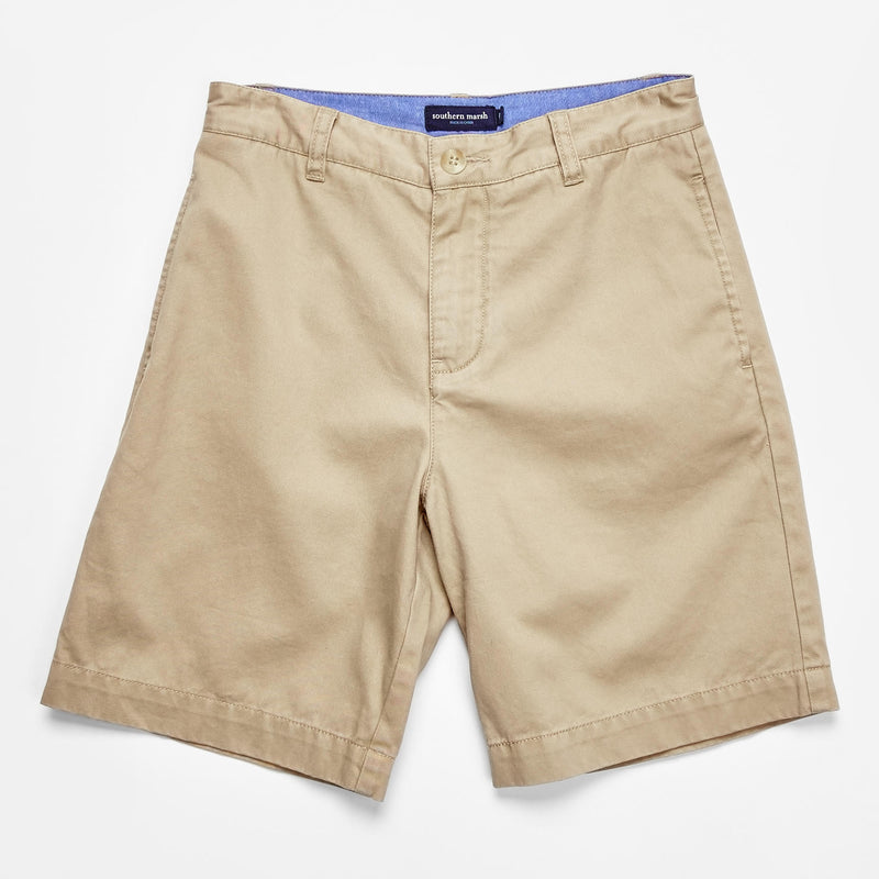 Boys Southern Marsh Regatta Shorts- Khaki