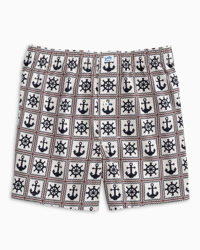 Men's Southern Tide Ahoy There Boxers- Coconut