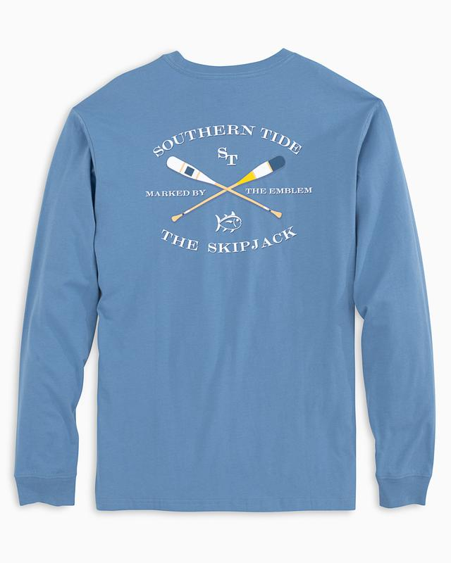 Southern Tide Long Sleeve Oars Tee- Endless Blue