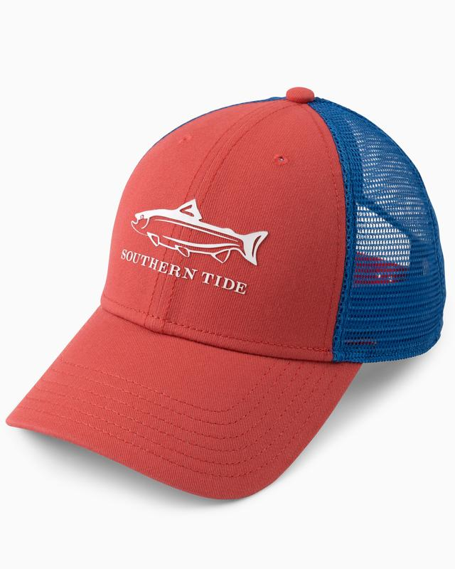 Southern Tide On The Line Trucker Hat- Terracotta