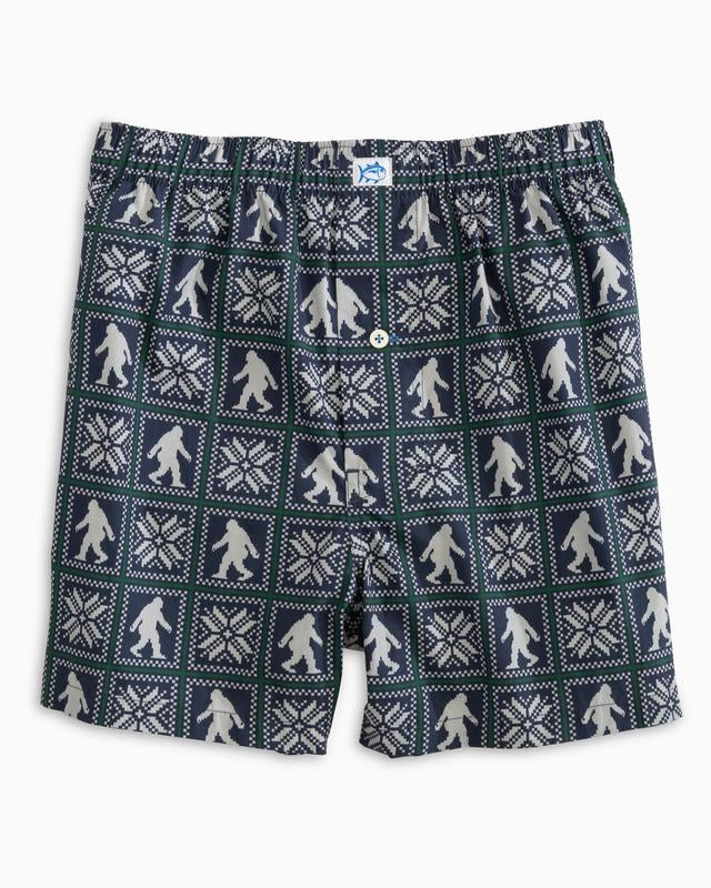 Men's Southern Tide Sighting Area Boxers- True Navy