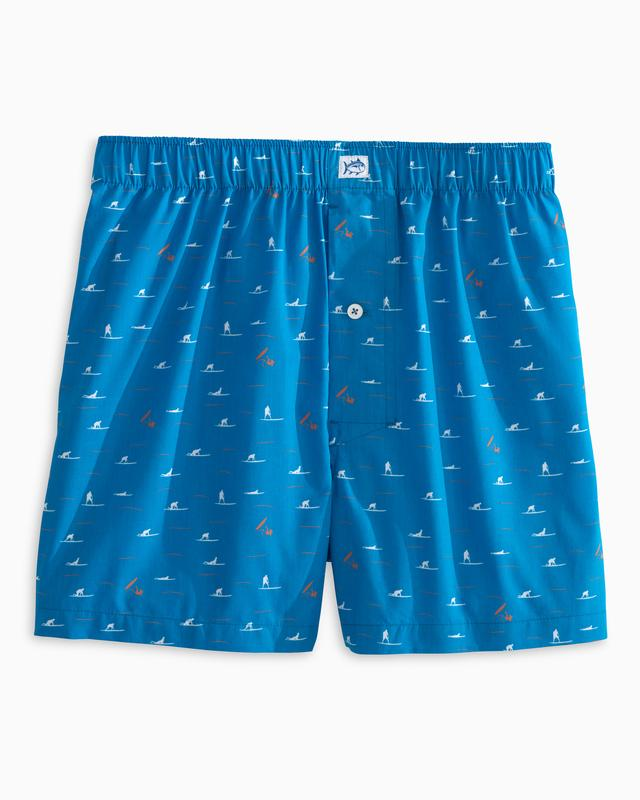 Men's Southern Tide Totally Gnarly Boxers- Over Sea Blue