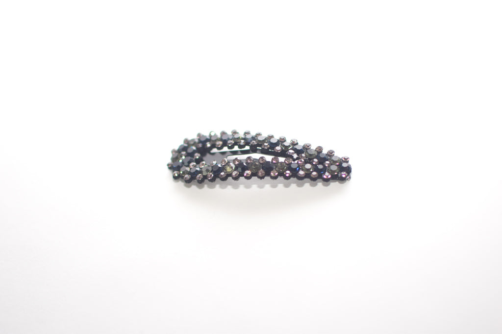 Black Rhinestone Hairclip - Spencer and James Hair Accessories for Girls