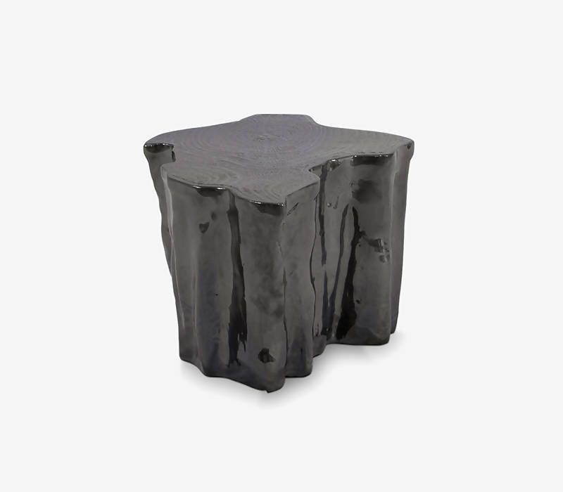 BOCA DO LOBO EDEN CERAMIC BLACK SIDE TABLE
