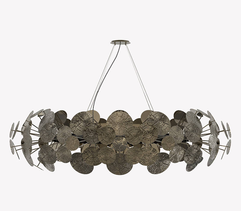 BOCA DO LOBO NEWTON PATINA CHANDELIER