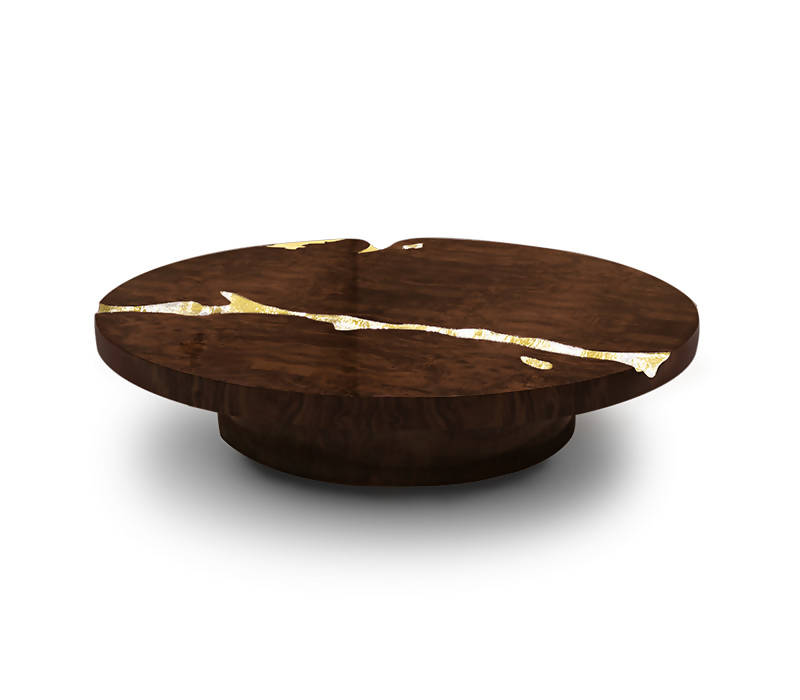 BOCA DO LOBO EMPIRE WALNUT CENTER TABLE