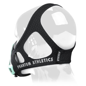 Phantom Trainingsmaske Training Mask Black Schwarz Glow in the Dark Leuchtet Leuchten Dunkeln Türkis