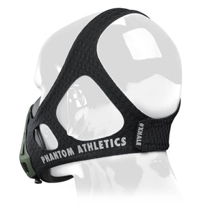 Phantom Trainingsmaske Training Mask Black Schwarz Grün Green Army