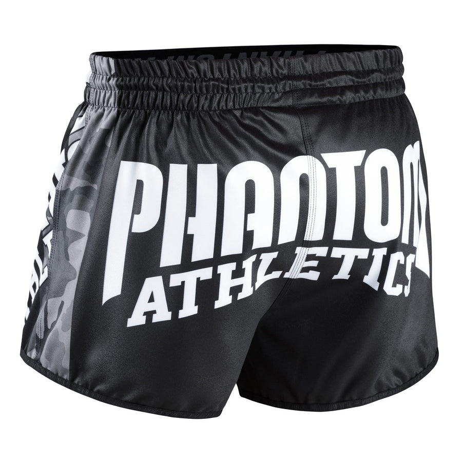 Phantom Athletics Revolution Muay Thai Shorts Hose Thaiboxen Thai boxing  Pants Bottoms K1 Black Schwarz Grau Gray Camo Camouflage