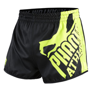 Phantom Athletics Revolution Muay Thai Shorts Hose Thaiboxen Thai boxing  Pants Bottoms K1 Black Schwarz Camo Camouflage Neon Fluo Gelb Grün Yellow Green