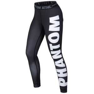 Phantom Athletics Damen Women Leggings Domination Schwarz Weiß Schriftzug Tights