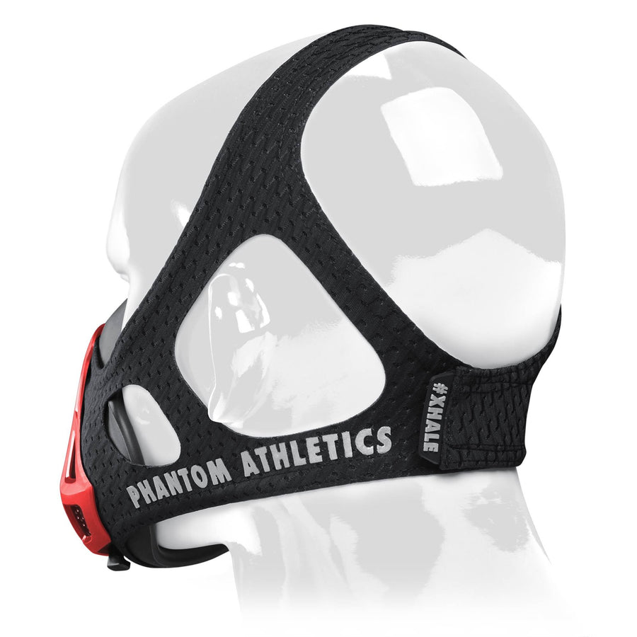 Phantom Trainingsmaske Phantom Maske Training Mask Schwarz Black Rot Red Fire