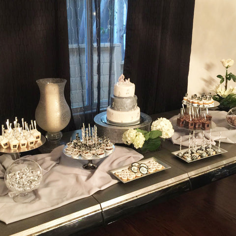 Silver Wedding Sweet Table