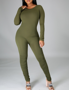Girls Night out Olive Jumpsuit