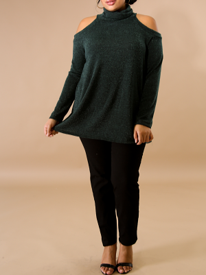 Cowl Neck Hunter Green Tunic
