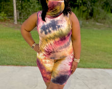 Load image into Gallery viewer, Mask On tie dye short set