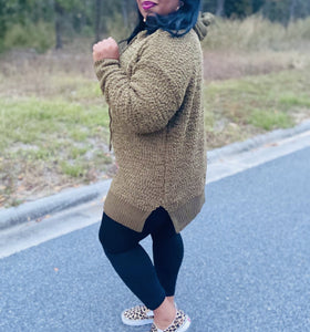 Oh so Comfy Olive Popcorn Sweater