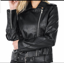Load image into Gallery viewer, Biker Chic  Black  Jacket