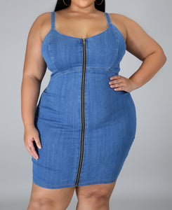 She's a Winner MED Denim dress